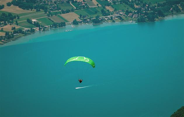 spiruline EZ au dessus du lac d'annecy
