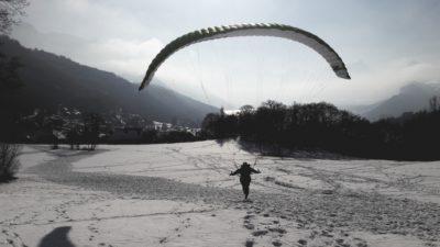 pente ecole et premier vol en parapente