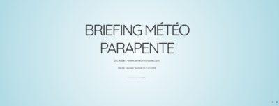 briefing météo parapente